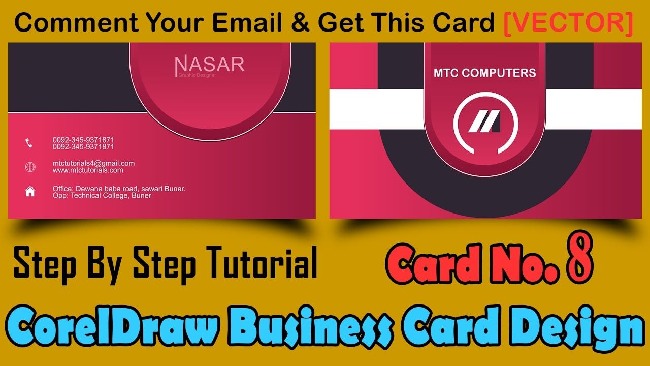 How to make a business card in coreldraw card no 8 business how to make a business card in coreldraw card no 8 reheart Images