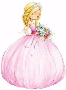 Rosa prinsesse.