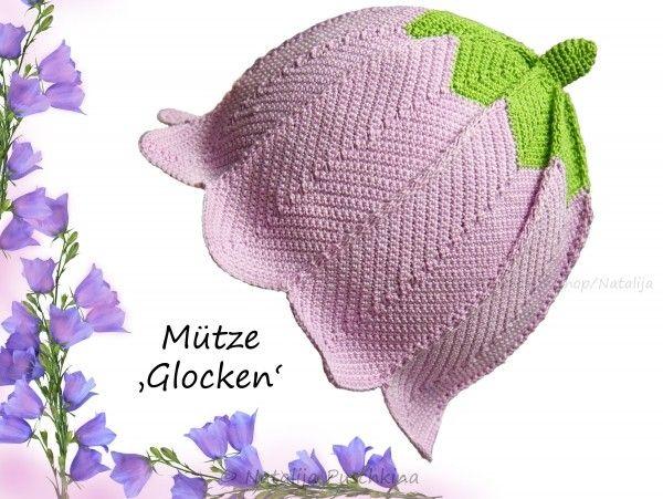 Mütze mit Glockenmotiv für Babys und Kinder selber häkeln: Hol Dir ...
