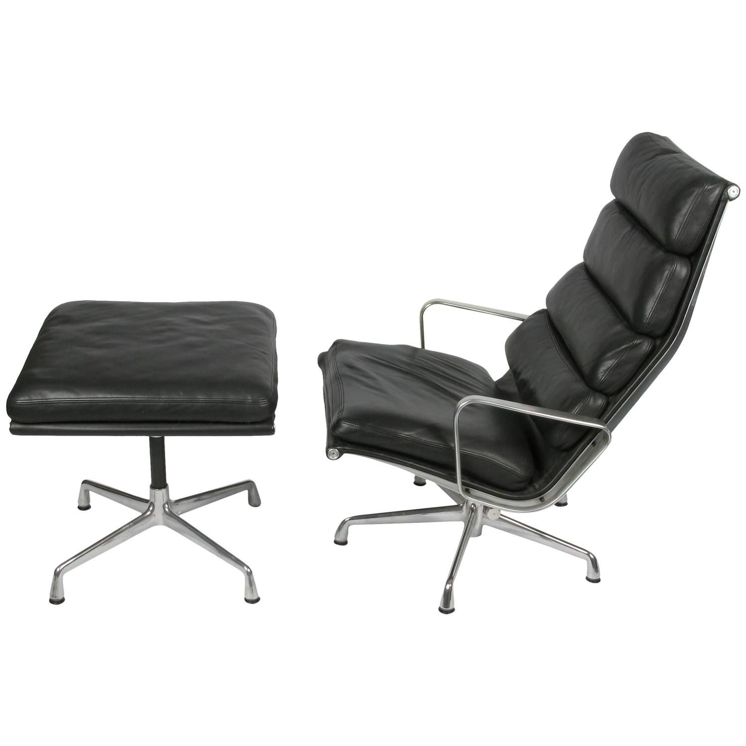 Eames Soft Pad Lounge Chair And Ottoman From A Unique Collection