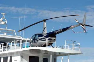 SEA MEGA YACHT BLOGGER HELIPAD FOR HELICOPTERS