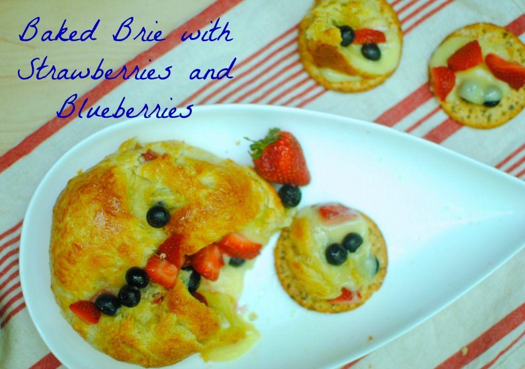 Red white and blue baked brie | Bon Bon Rose Girls