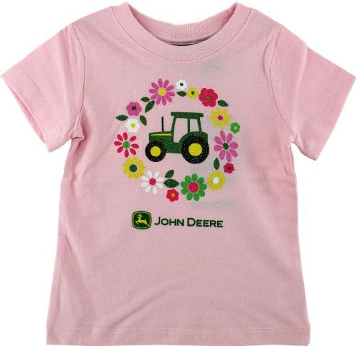 "2b4bcfb5749 John Deere ""Flower Tractor"" Pink Toddler Girls « Clothing Impulse ..."