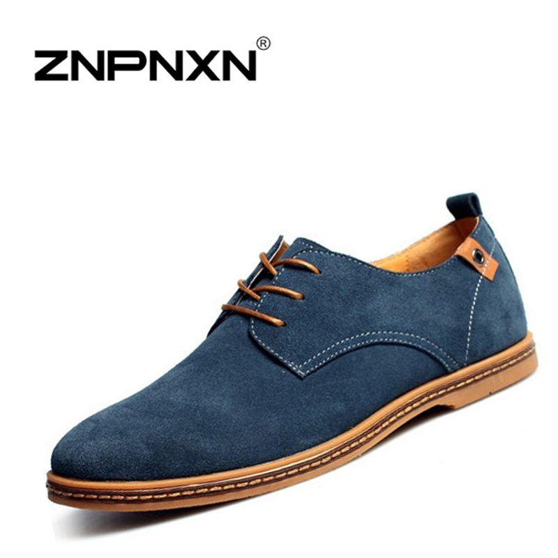 ZNPNXN Men Shoes Casual Genuine Leather Flats Shoes Men Summer ...