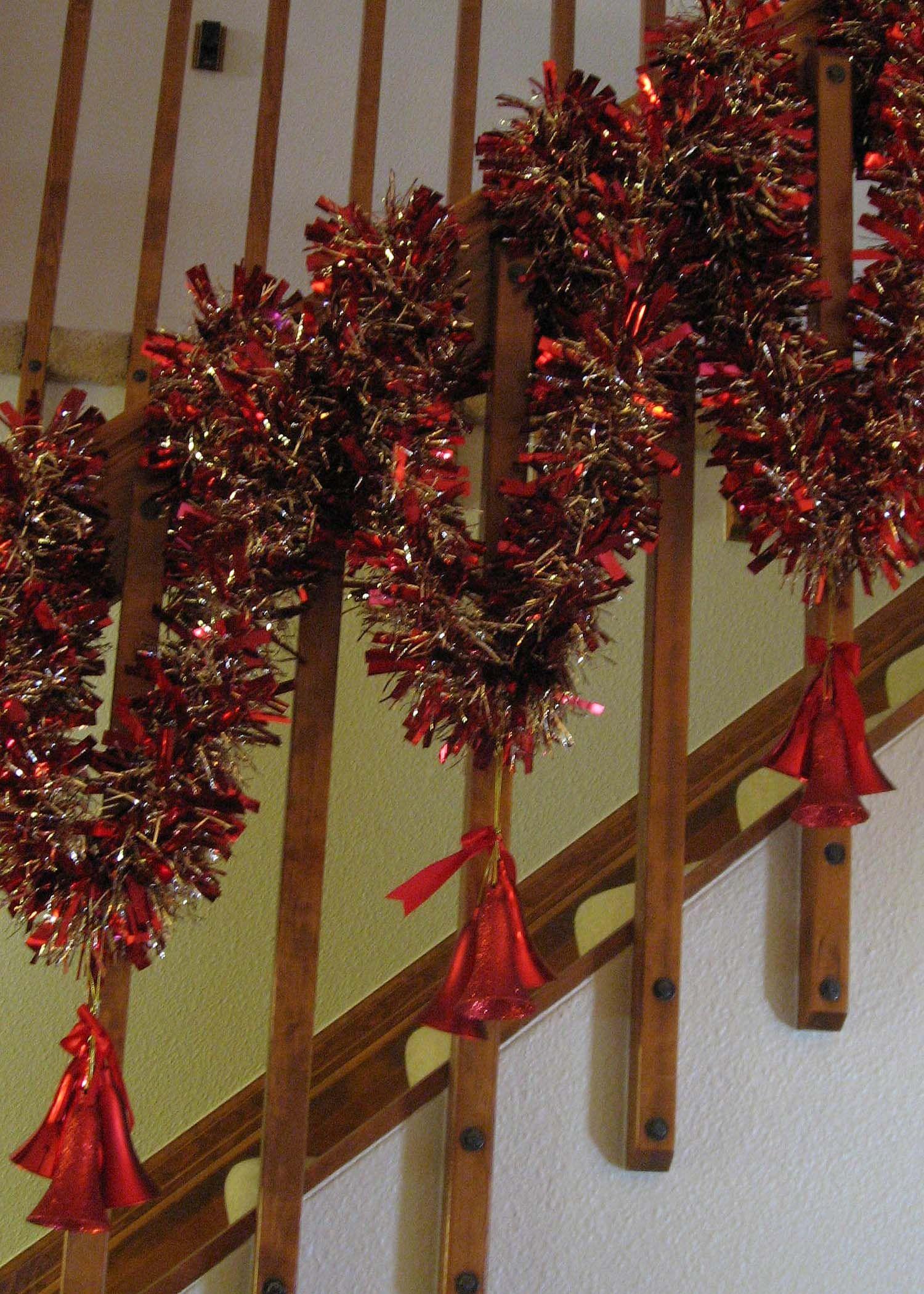 Banister Decorations   Christmas 2012   Pinterest ...