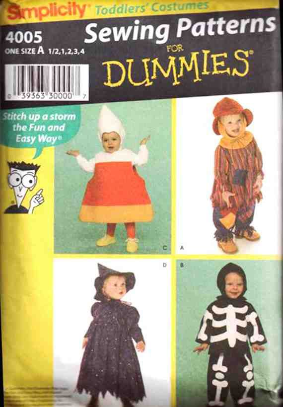 Simplicity Sewing Pattern 4005 Halloween Costume Pattern Sewing For