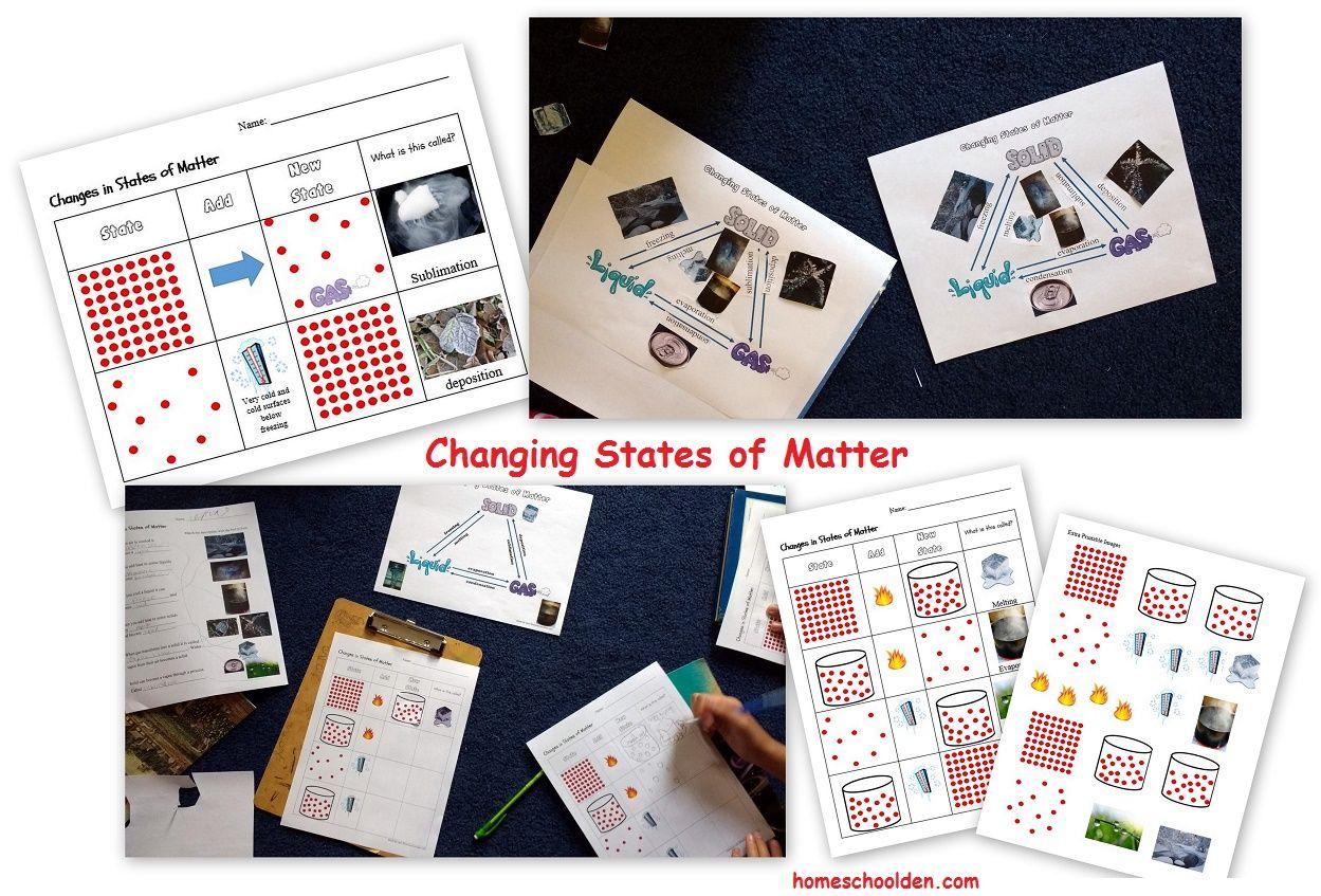 Changing States Of Matter Worksheets
