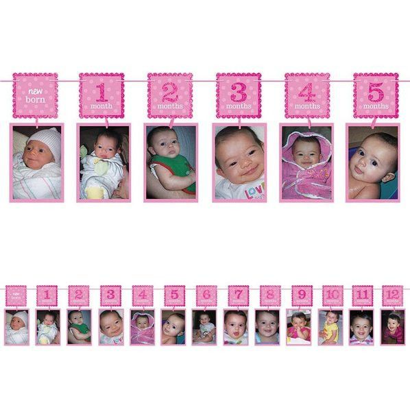 Pictures of your daughter should be framed in something that shines as brightly as she does on her first birthday, so make sure you accessorize with our 1st Birthday Pink Glitter Photo Garland Decorat