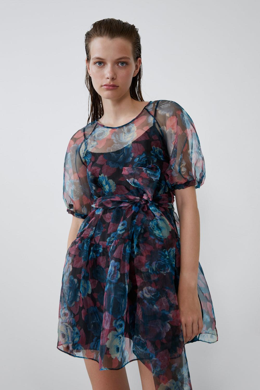 VOLUMINOUS ORGANZA DRESS - Short-DRESSES-WOMAN  ZARA United