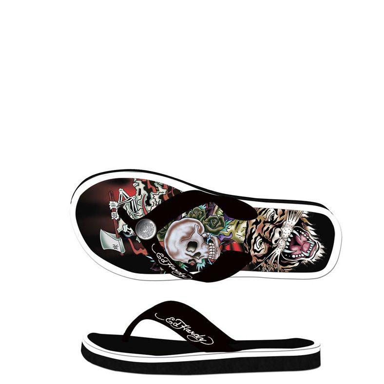 0fa02dbc6d9f Ed Hardy Flip Flop Basic Sandal for Mens - Black