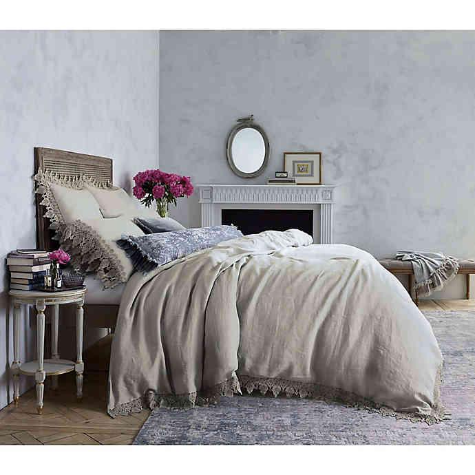 Wamsutta Vintage Evelyn Lace Duvet Cover Bed Bath Beyond Linen Duvet Cover Grey Elegant Duvet Covers Duvet Covers