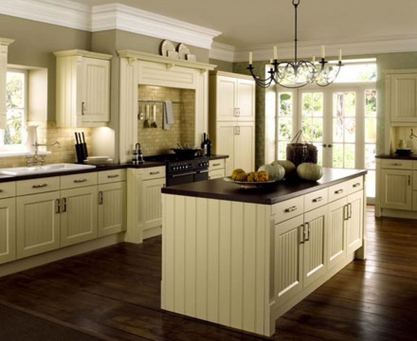 Pin By April Herington On Kitchen Cream Kitchen Cabinets