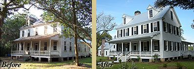 Before And After Pond Historic Preservation House Styles