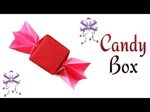 "Origami tutorial - Paper ""Chocolate Candy Gift Box "" . - YouTube"