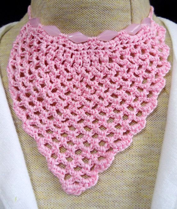 Crocheted trach stoma cover necklaces by fashionsforyourneck ...