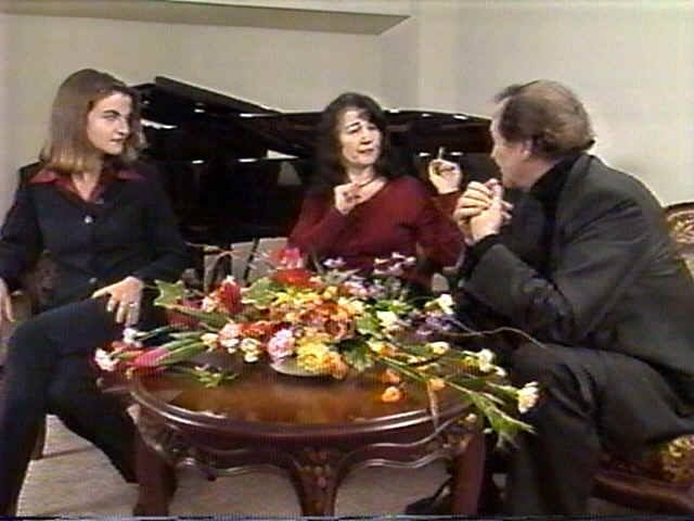with Charles Dutoit and her Daughter