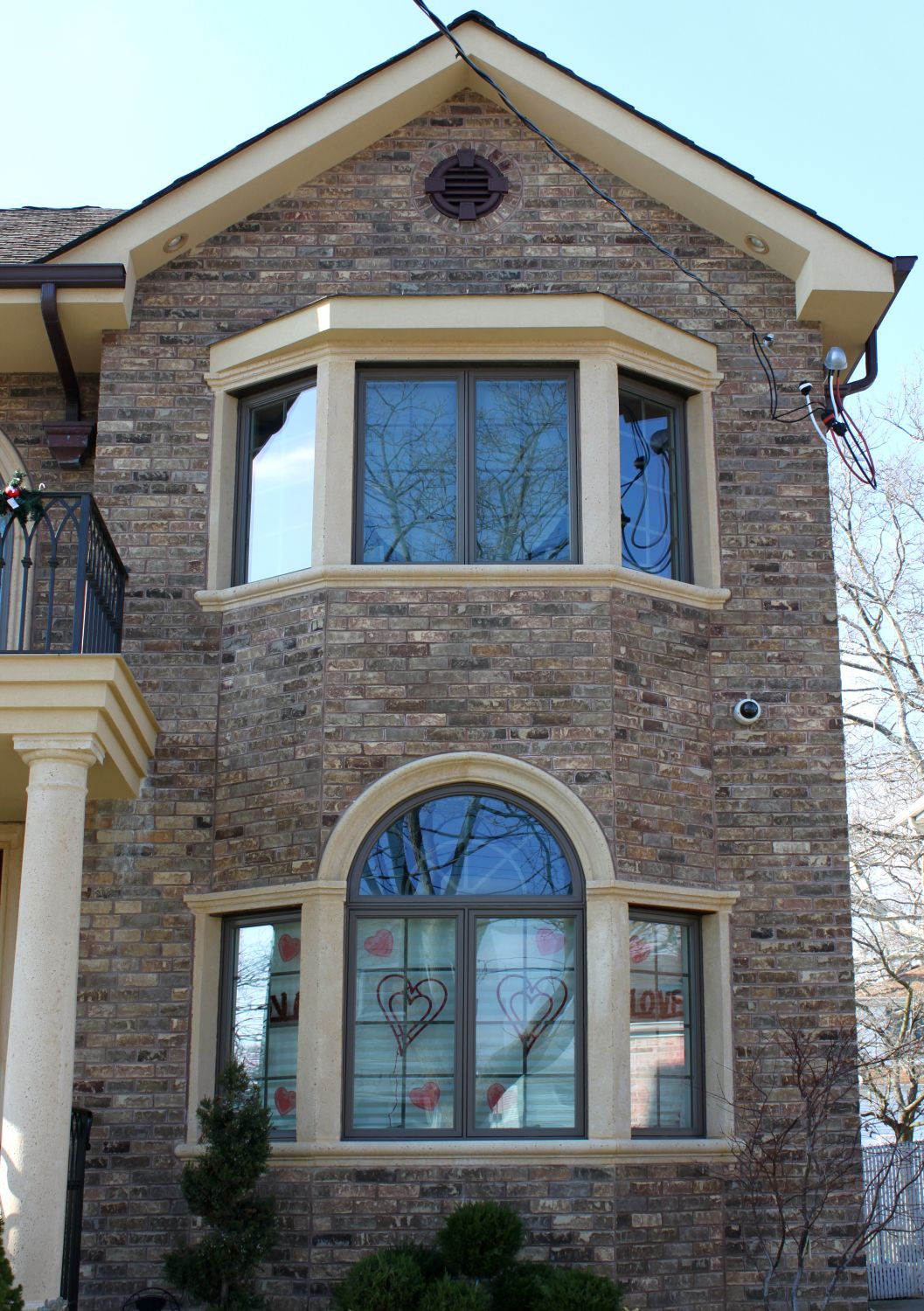 Cast stone window trim looks amazing over cultured stone or brick finishes surrounds and for Window sills exterior
