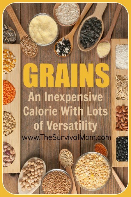 Food Storage Grains An Inexpensive Calorie With Lots Of