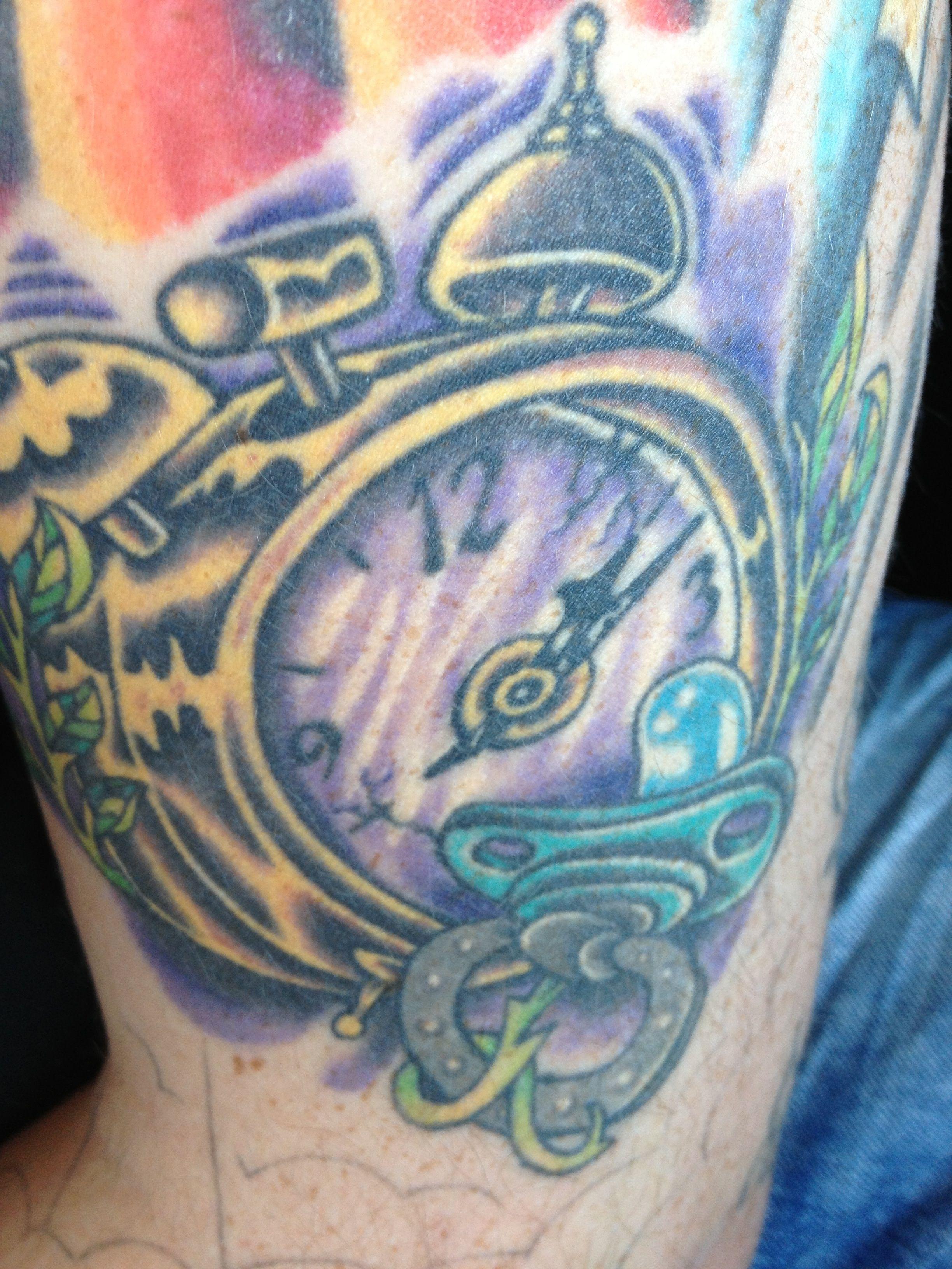1906 10 AD Alarm Clock Pirate Tattoo Jr Strenuous ...  |Alarm Clock Tattoo