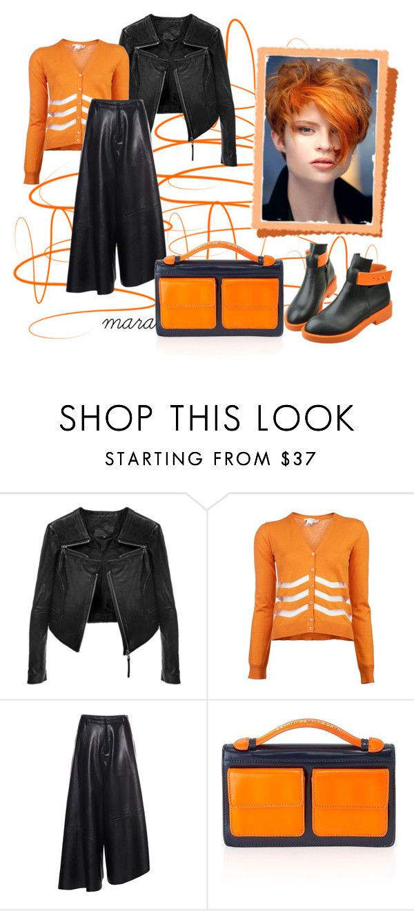 """""""Orange for sunny days in Fall"""" by marastyle ❤ liked on Polyvore featuring Carven, Front Row Shop and Marc by Marc Jacobs"""