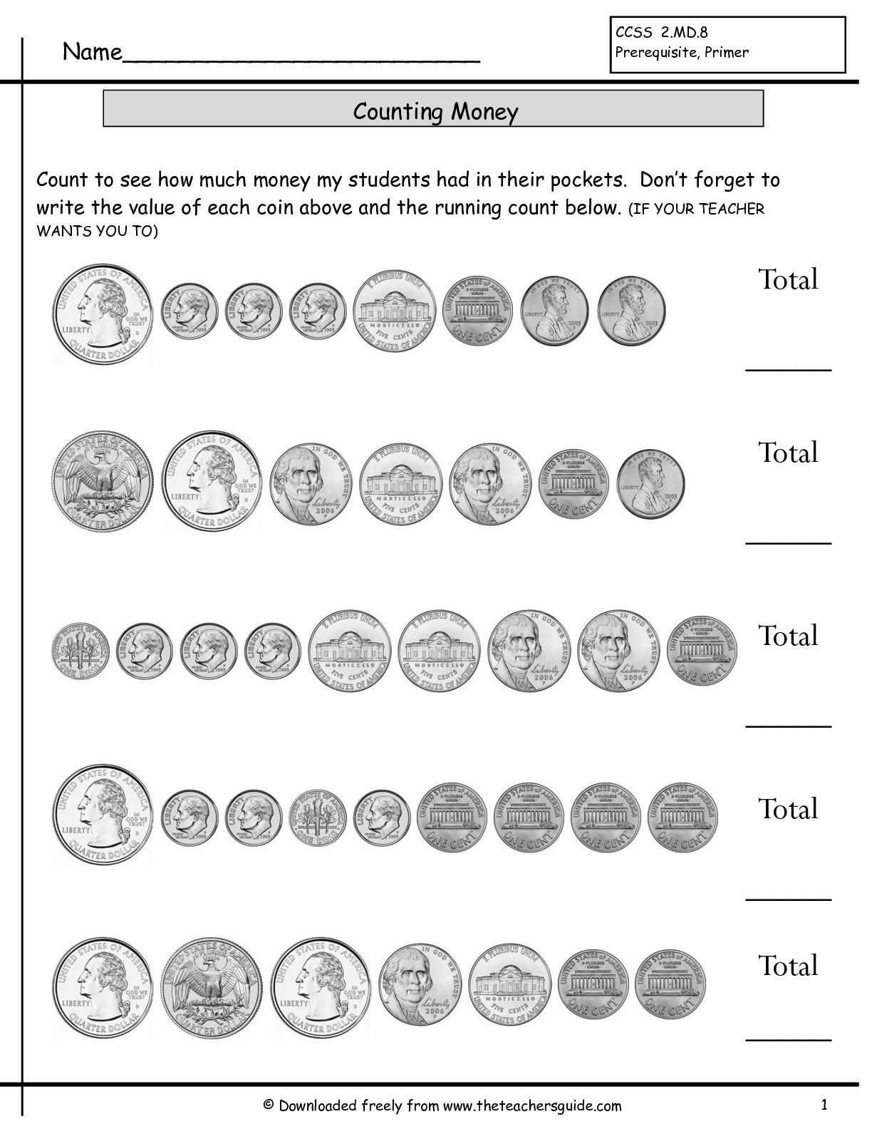 - Count Coins Worksheet Counting Coins Worksheets With Quarters 2