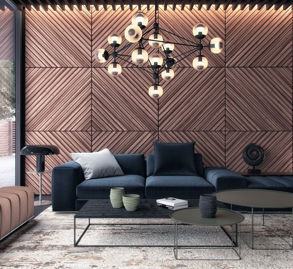 1001 Breathtaking Accent Wall Ideas For Living Room: 71158a37881993.574f4db293a5a.jpg (1240×1135)