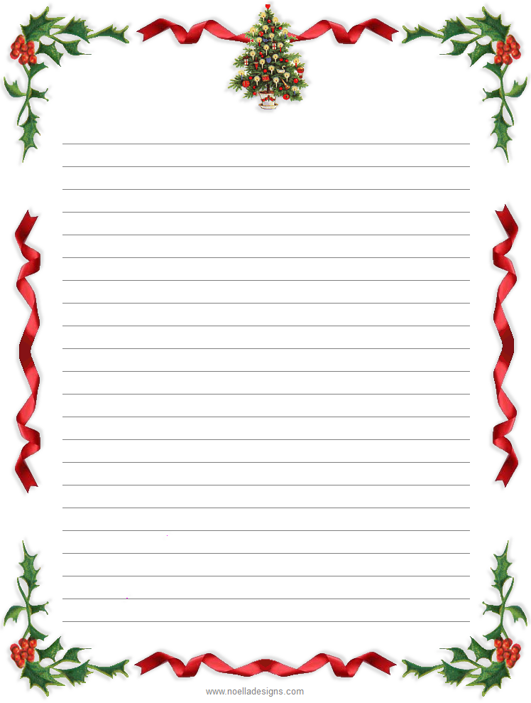 This is a picture of Free Printable Christmas Paper Stationery inside christmas tree
