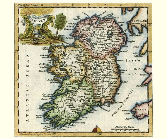 Etsy ireland map antique for the home pinterest antique maps etsy ireland map antique gumiabroncs Images
