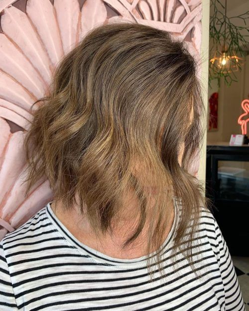 15 flattering long hairstyles for women over 50  wavy bob