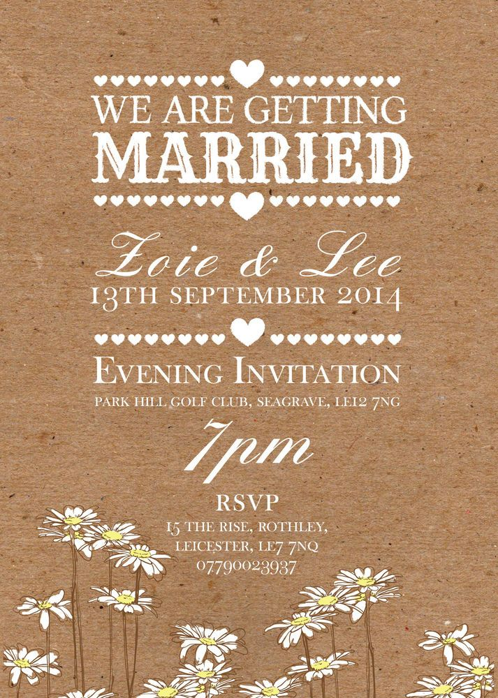 50 Personalised Rustic Vintage / Country Shabby Chic Wedding ...