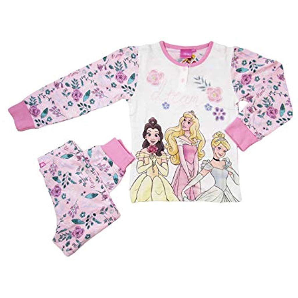 Ragazze Disney Principesse Set Pigiama Bimbi Bambini Maglia Pantalone