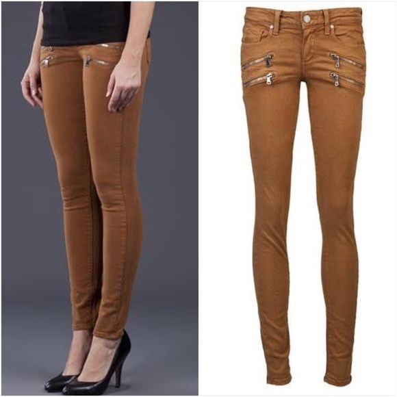 Paige Jeans Edgemont Ultra Skinny Jeans Edgy chic! 100% authentic woman's Edgemont Ultra Skinny jeans in Brown. By Paige denim. 98% cotton 2% elastane. Retail: $239 Paige Jeans Jeans Skinny