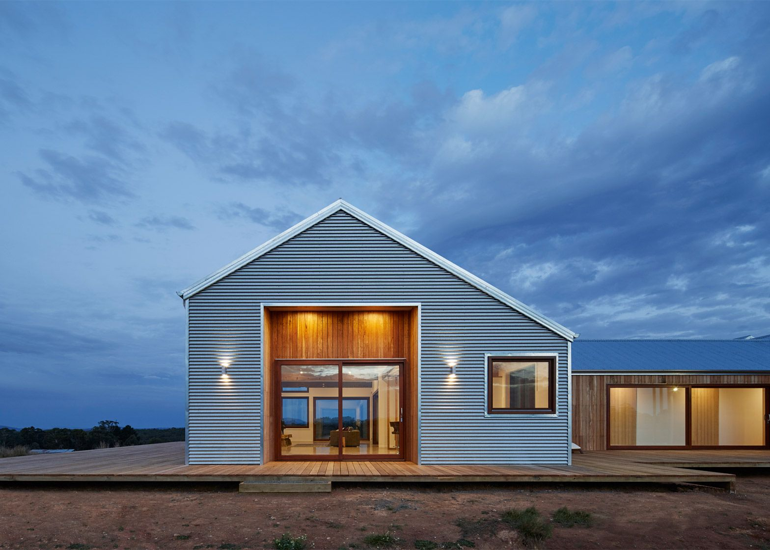 This shedinspired house in Australia features a lowmaintenance