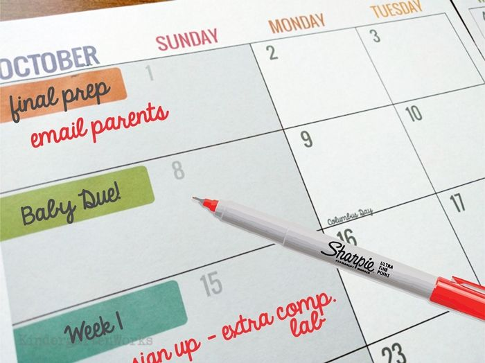 5 Nifty Ways to Use Your Teacher Planning Calendar Planning - teachers planning calendar