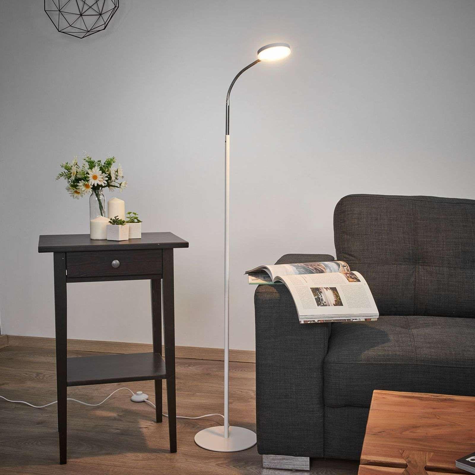Milow Led vloerlamp met zwanenhals van Lindby Leeslamp