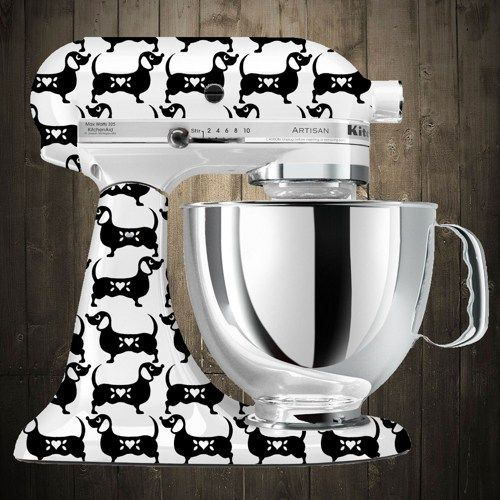 dachshund black Kitchen aid mixer decals - its like my two favorite things combined!!!