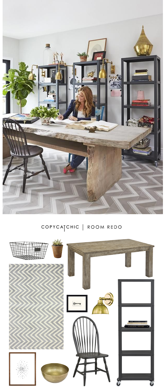 Genevieve Gorder\u0027s rustic home office featured recreated for less ...