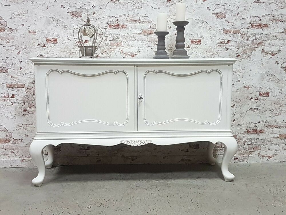 Sideboard Chippendale Anrichte Shabby Chic Antik Weiss Kommode Vintage Holz   Vintage holz ...