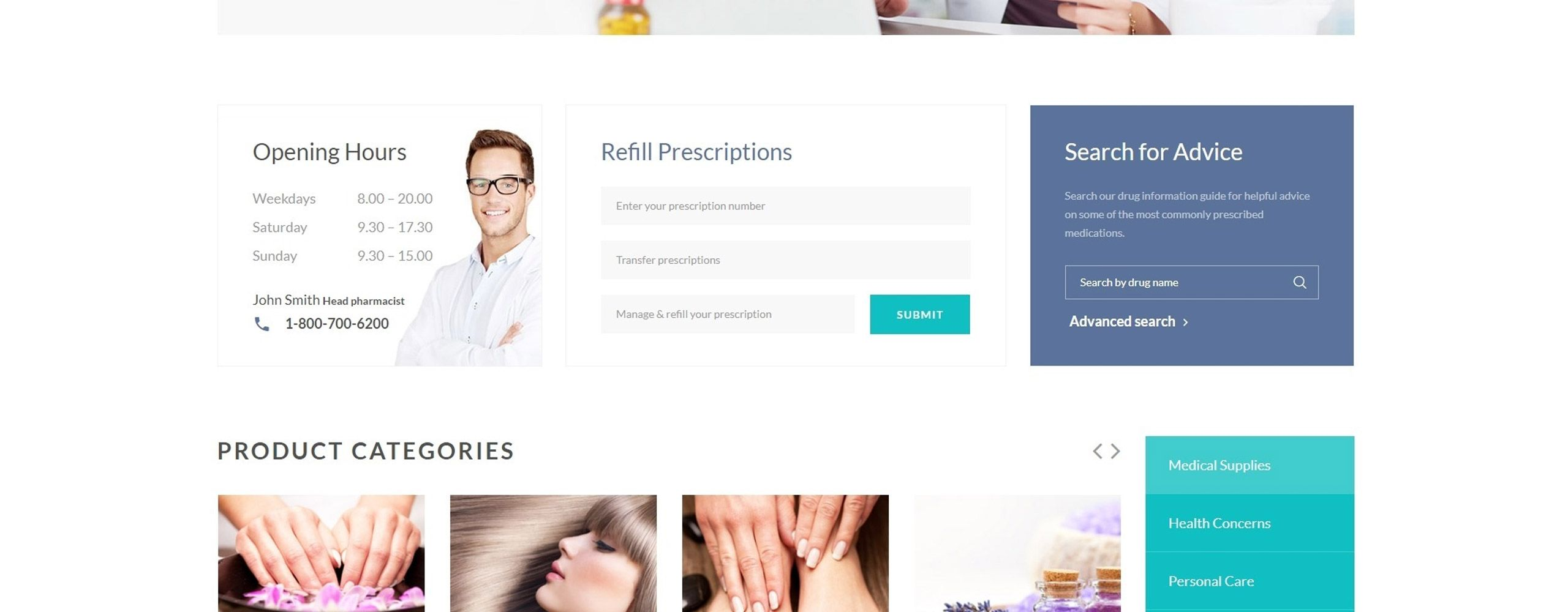 Pharmacy Medical Multipage HTML5 Website Template