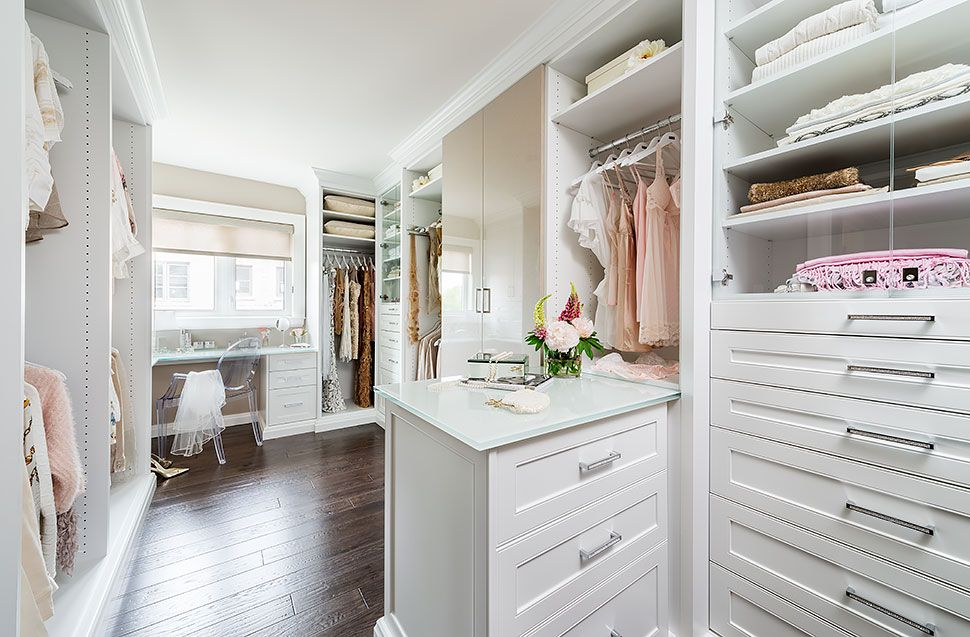 White Dressing Room Walk In Closet With Plenty Or Storage