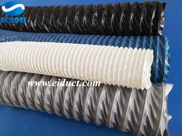 BlueFlexibleFabricAirDuctHose Air duct, Pvc fabric