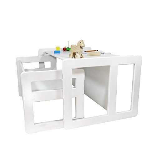 3 In 1 Childrens Furniture Multifunctional Set Of 2 One Bench Table Small  And One Bench