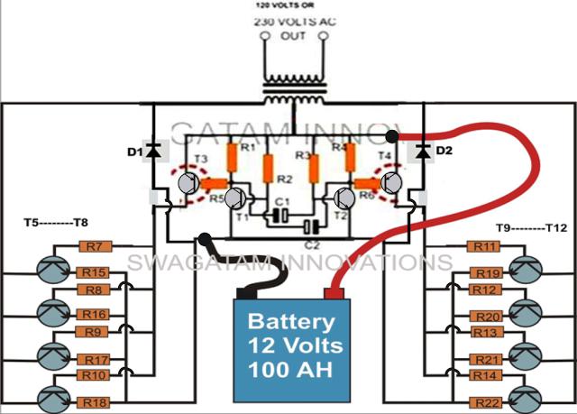 battery power inverter schematic  automotive wiring diagram •