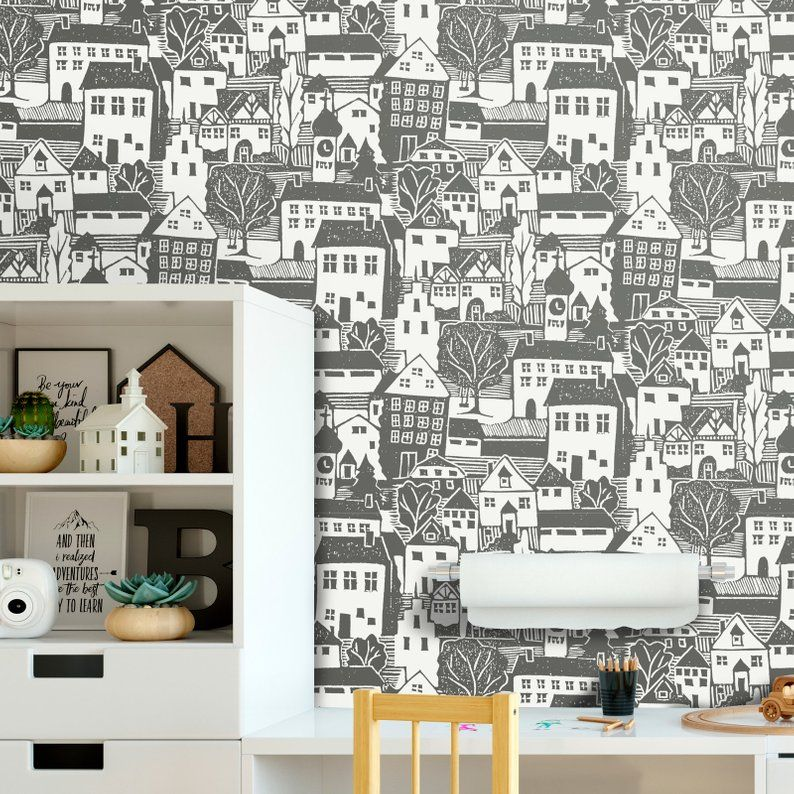 Good Neighbors Removable Wallpaper Peel And Stick Wallpaper Home Decor And Wall Decor Interior Design W1191 Removable Wallpaper Peel And Stick Wallpaper Home Wallpaper