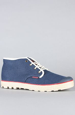 hot sale online f2146 cd97d 65 The Slim Chukka Woven Sneaker in Indigo by Palladium on karmaloop -  Use repcode