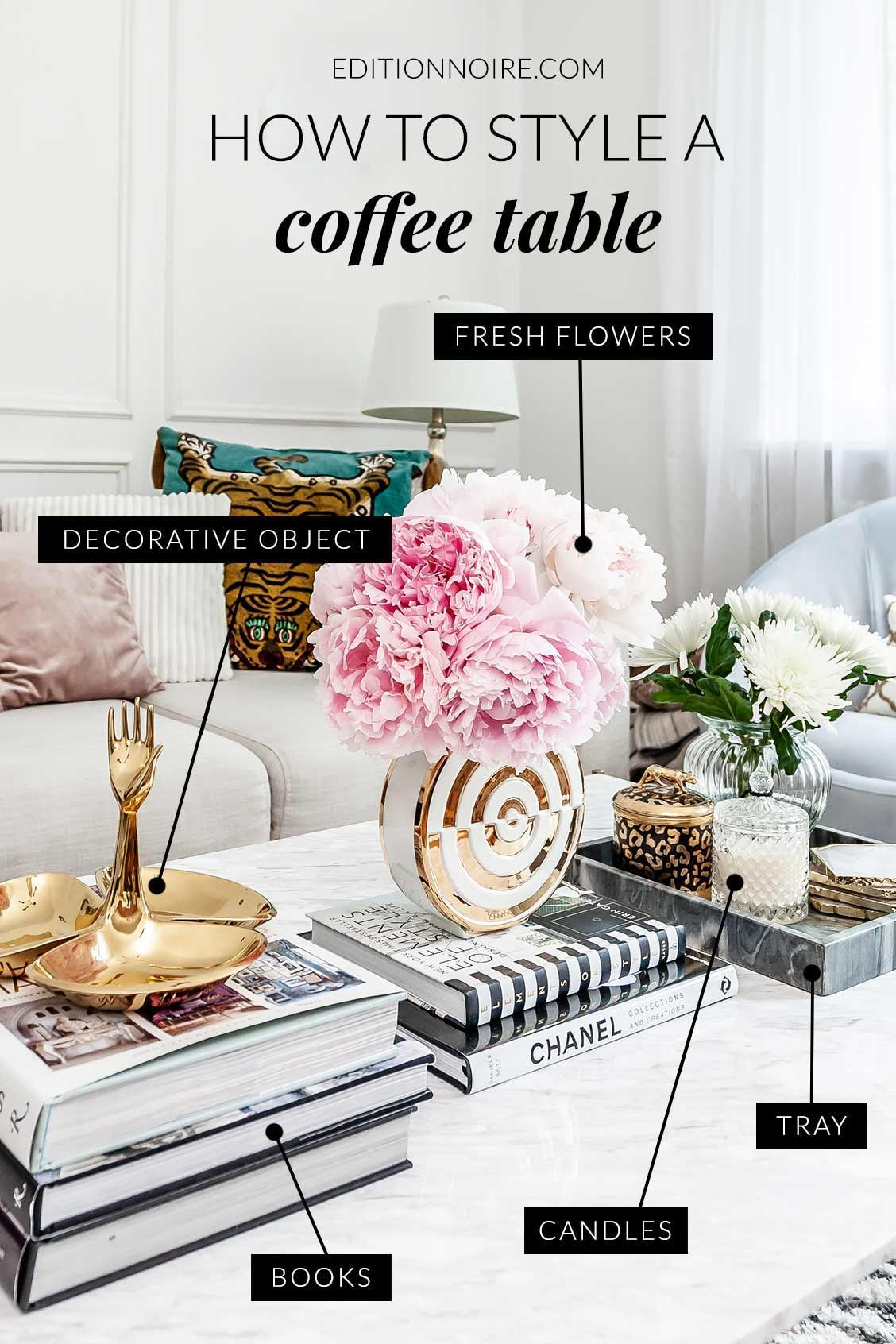 How to Style A Coffee Table - EditionNoire