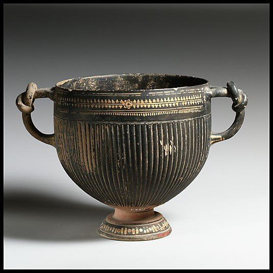 Skyphos. Late Classical: ca. 325–300 BCE. Greek, South Italian, Apulian