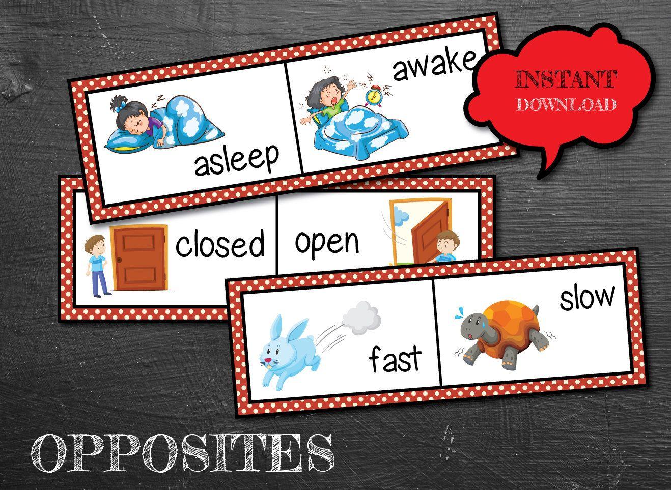 Opposite Word Cards Apposite Activities Opposite Games