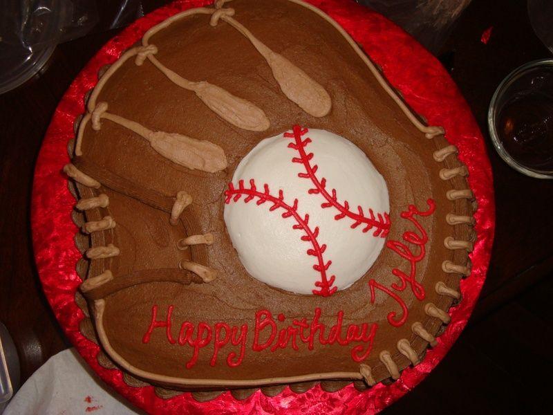 Baseball Glove Cake Birthday Cake Inspirations Pinterest Cake