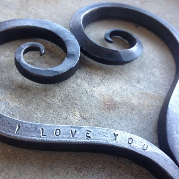 Sixth Wedding Anniversary Gift Ideas For Him: Iron Heart Trivet, 6th Anniversary, Iron Anniversary Gift